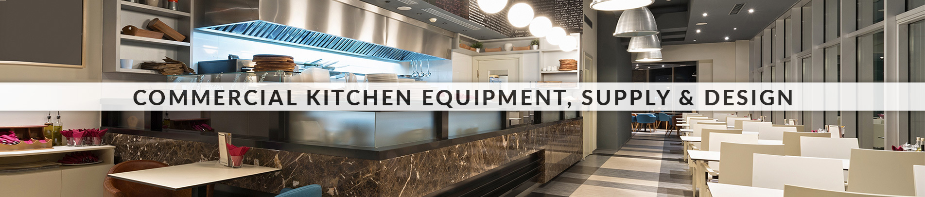 Independent Restaurant Supply custom supply and design of a commercial kitchen full of restaurant equipment.